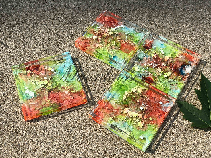 Sublime- Resin Art Coasters
