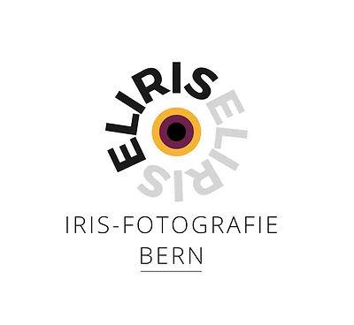 """Logo von Elias Branch, einem Iris-Fotografen im Raum Bern. Das Logo enthält eine digital erstellte Iris sowie einen runden Schriftzug """"ELIRIS"""" sagt."""