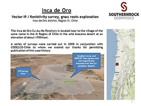 Inca de Oro District IP / Resistivity & Magnetotellurics