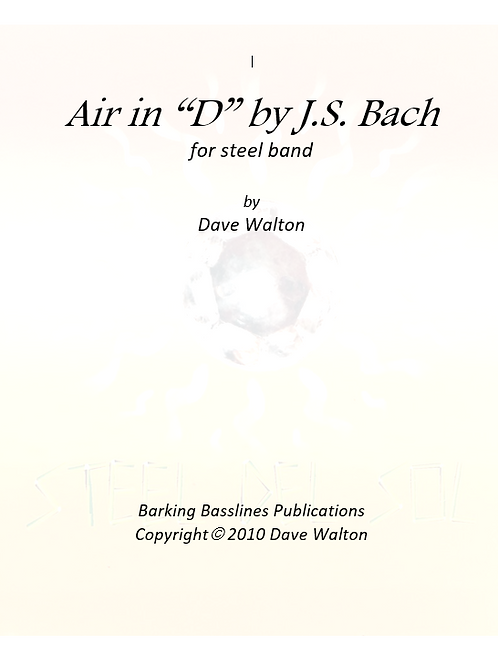 """Air in """"D"""" by J.S. Bach"""