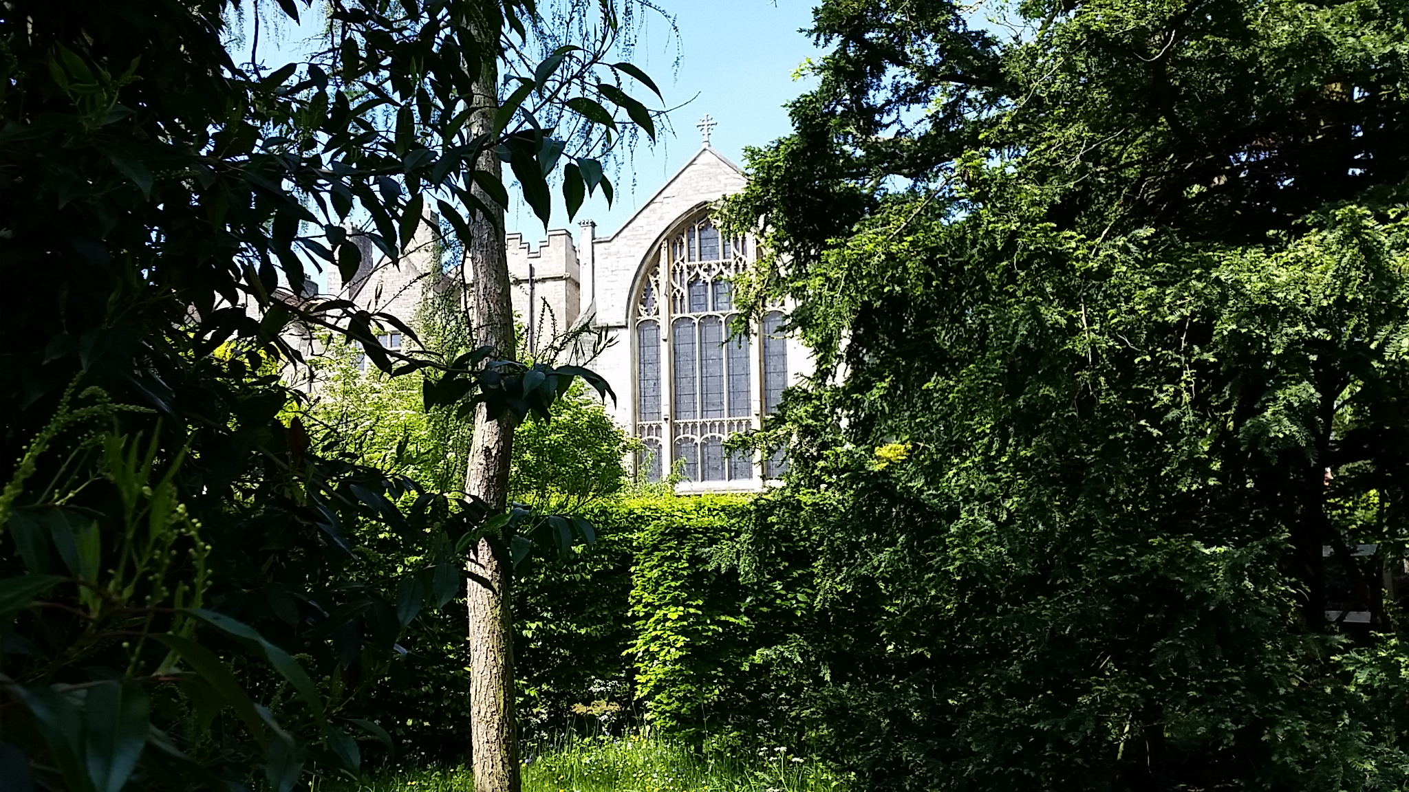 View of the Chapel from the Garden