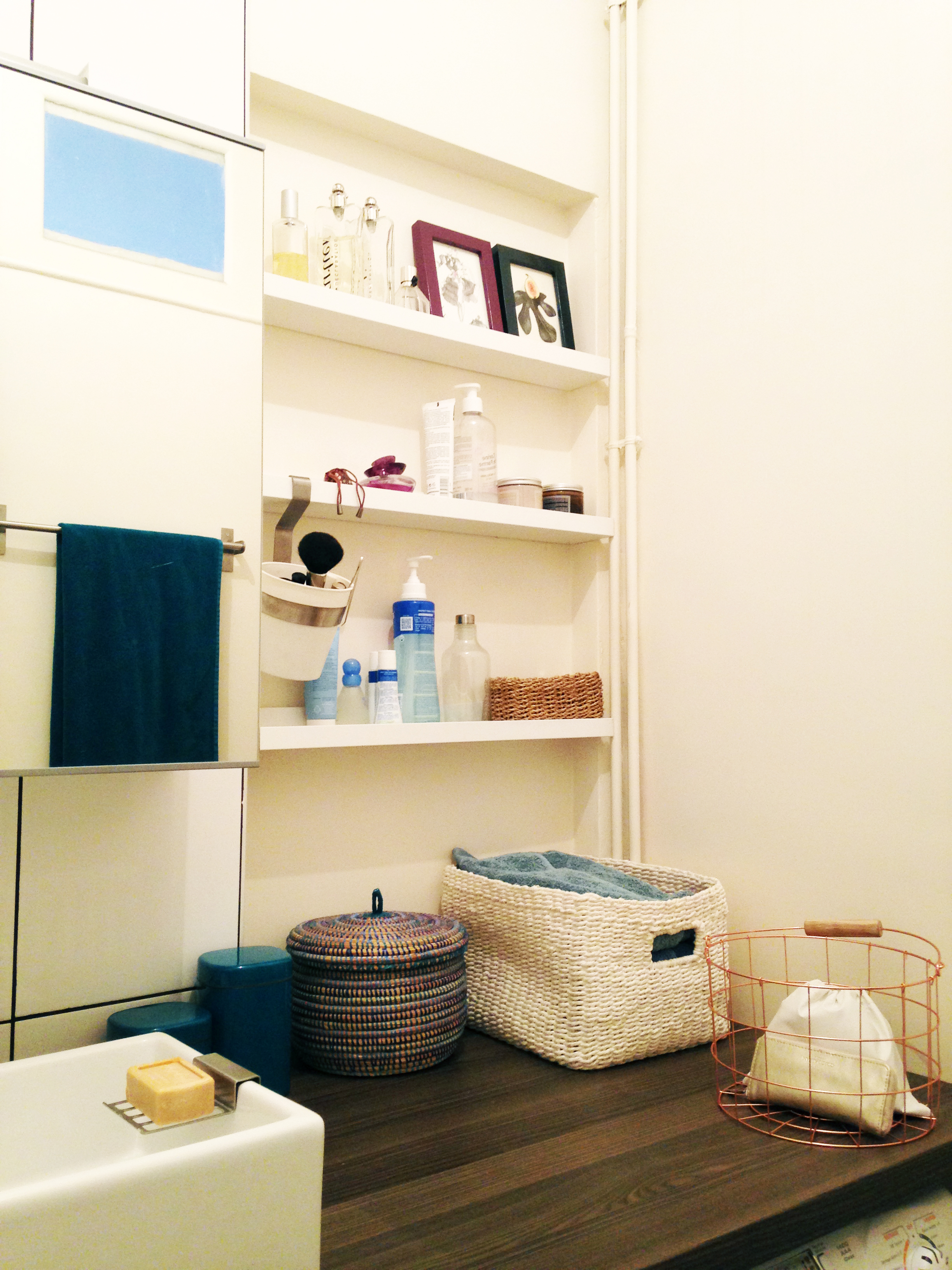 salle de bain optimisée+rangemements