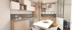 3D cuisine avec verrière sur mesure
