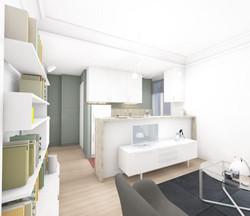 3D cuisine ouverte sur séjour