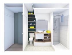 3D salle de bain et entrée
