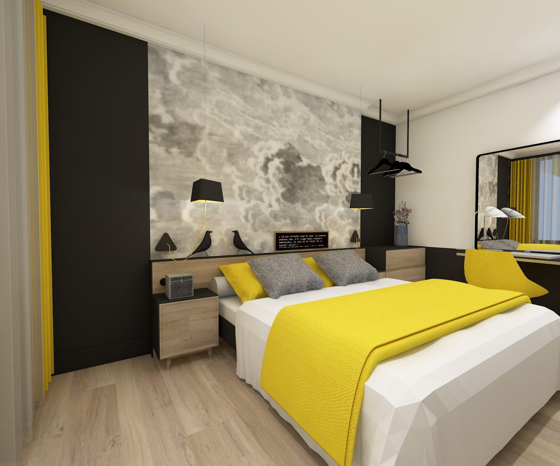 aménagement chambre d'hôtel
