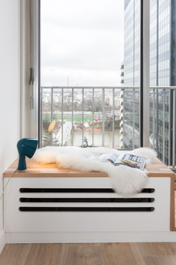 Cache-radiateur banc
