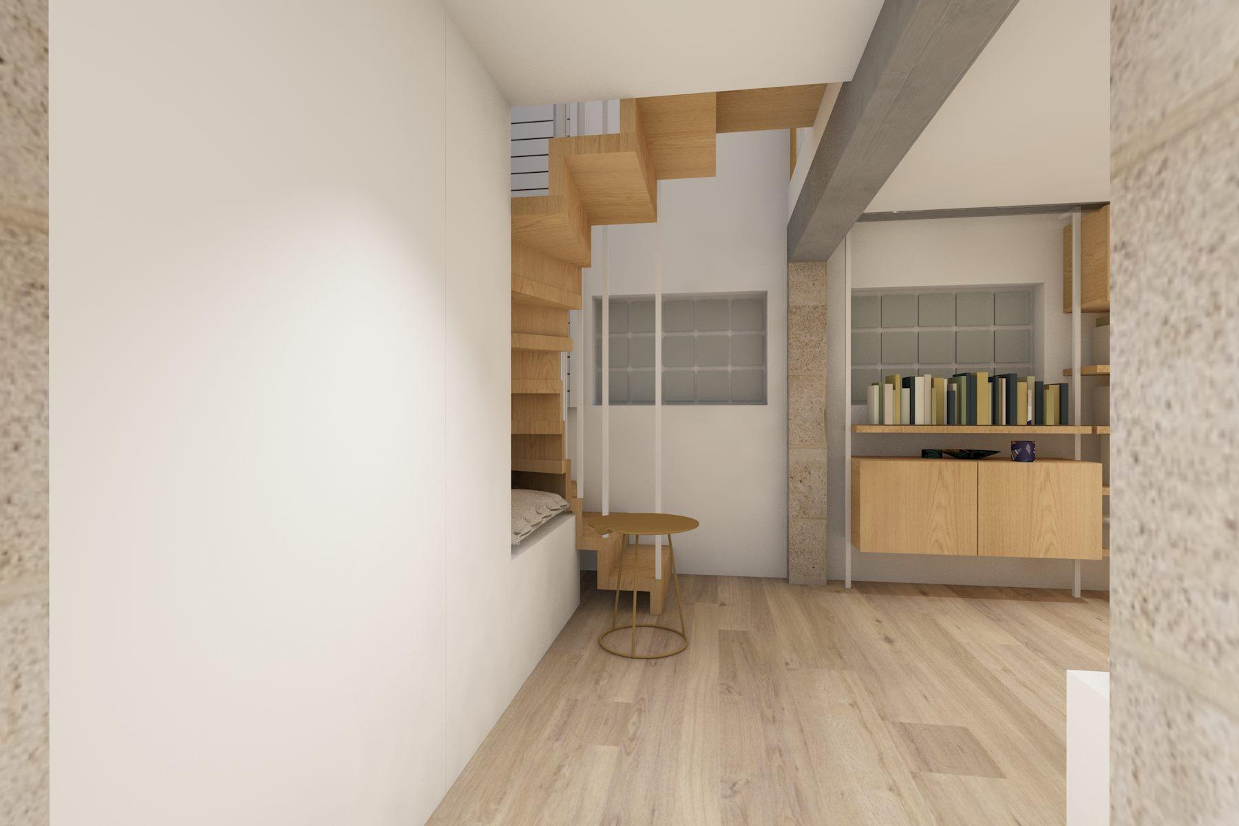 bureau avec escalier