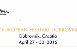 2nd Edition European Festival of Tourism and Strategy - Dubrovnik 27th April 2016