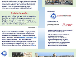 Invitation to speakers - Authenticity and Valorisation of Walled Towns