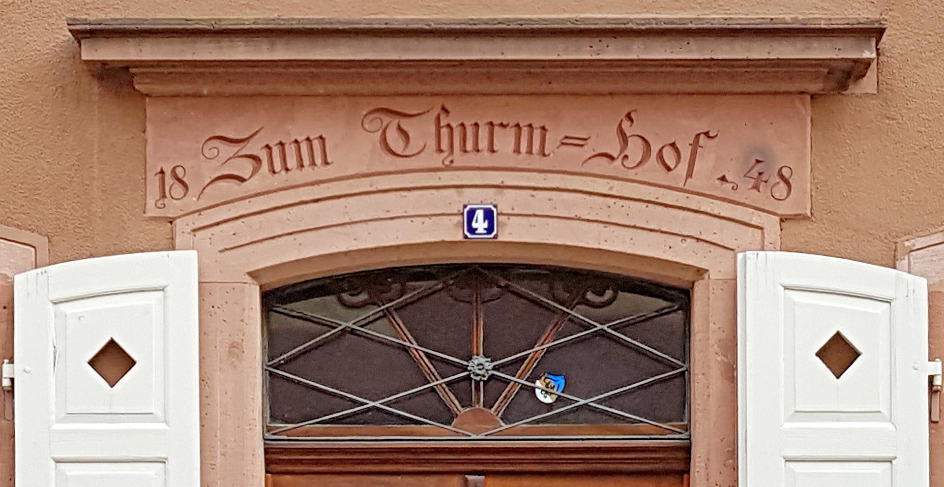 Sandsteinportal Weinheim