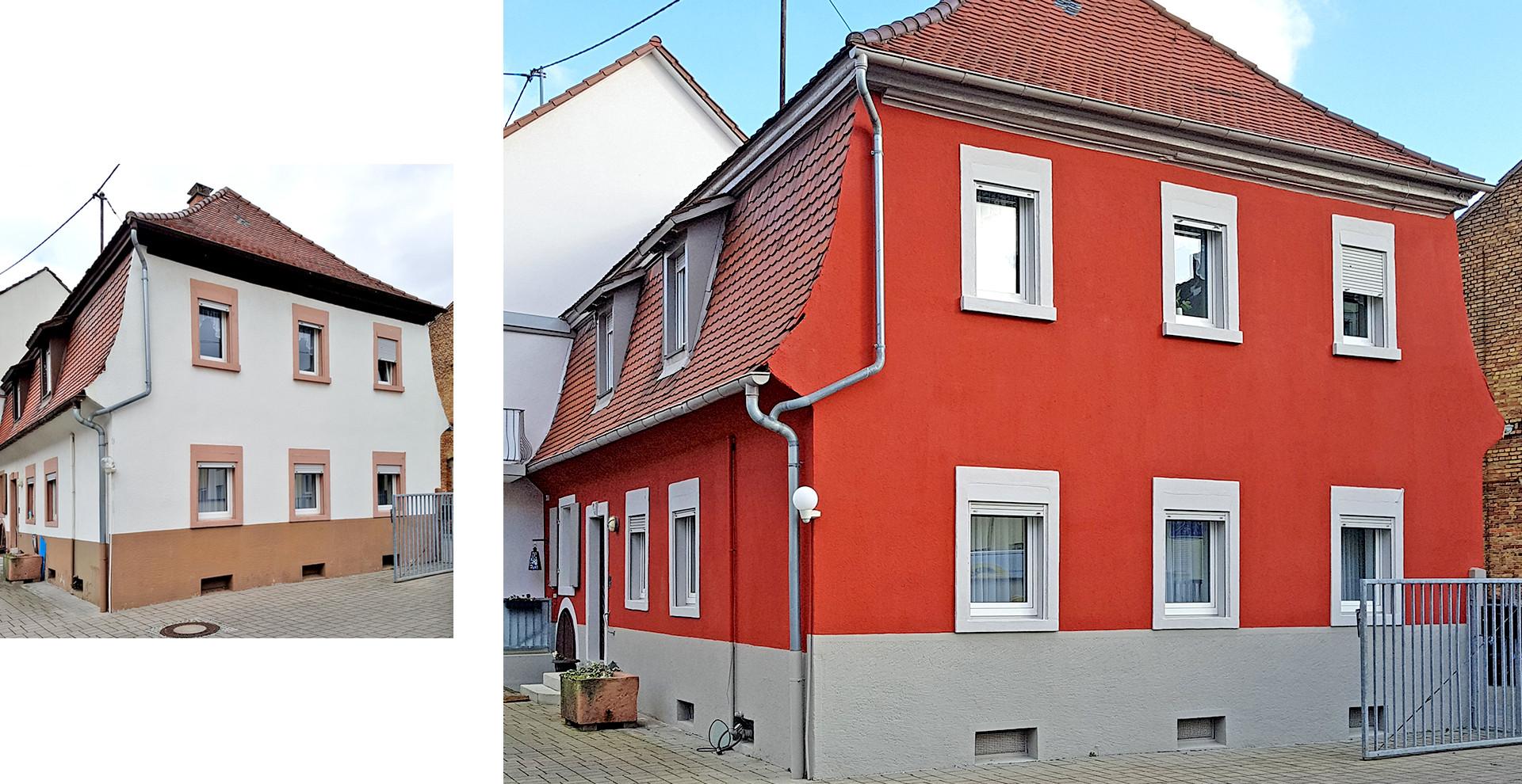 """Fassadensanierung Barockgebäude  """"Wambold-Schlösschen"""" Wallstadt"""