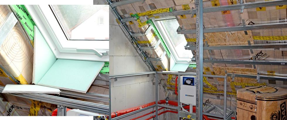 Trockenbau mit energetischer Dachdämmung