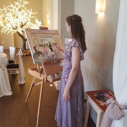 Lissieart Live Wedding Artist