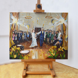 First Dance Wedding Painting