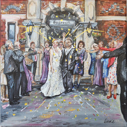 Wedding Ceremony Painting on Canvas