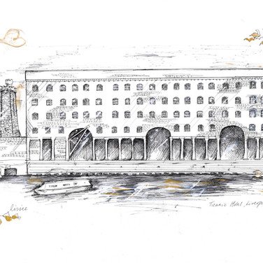 The Titanic Hotel Liverpool Wedding Gift Illustration
