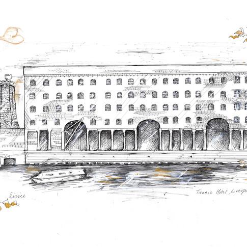 The Titanic Hotel Liverpool Wedding Gift Illustration