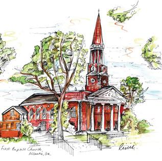 Wedding Venue Illustration GiftFirst Baptist Church.jpg
