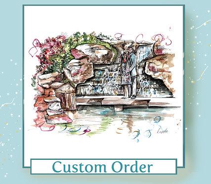Couple Illustration - A4 Size - Colour - Watercolour on Paper