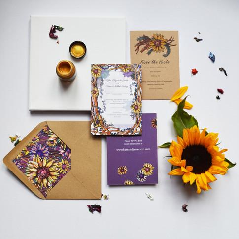 Sunflower Stationery Design Image 2.jpg