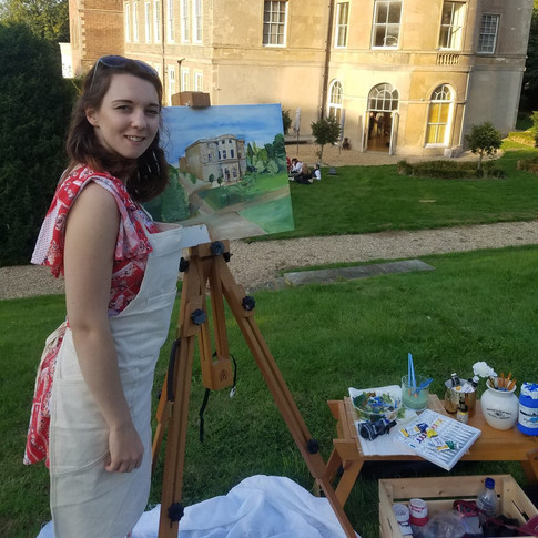 Live Painting at Clifton Manor