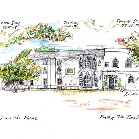 Wedding Venue Drawing Warwick House