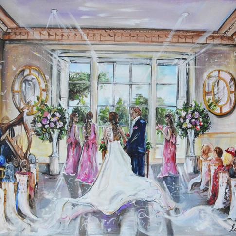 Wedding Painting on Canvas