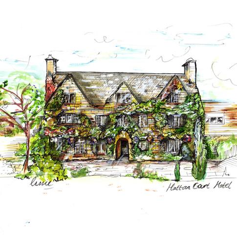 Wedding Venue Gift Drawing Hatton Court