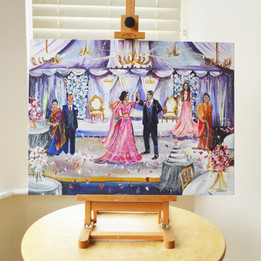 Live Nepalese Wedding Painting on Canvas