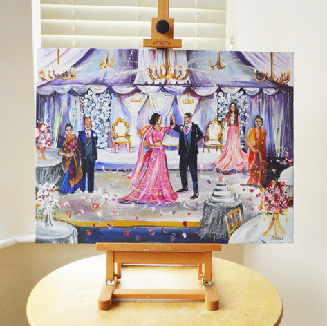 Live Wedding Painting Nepalese Wedding