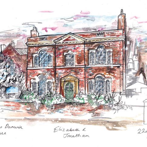Erasmus House Wedding Venue Illustration