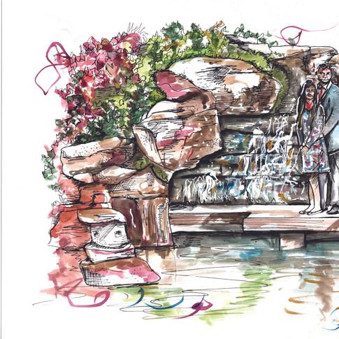 Couple Illustration Engagement Gift