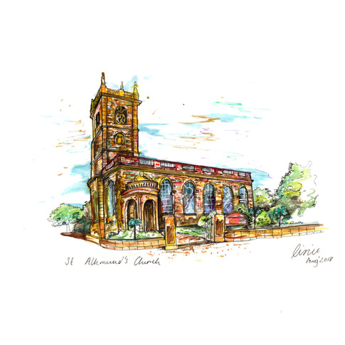 Wedding Venue Illustration St Albunds church.jpg