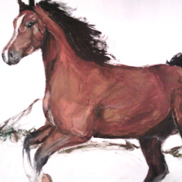 Horse Acrylic on Canvas Painting