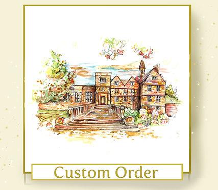 Custom Venue or Home Illustration - A4 Size - Colour
