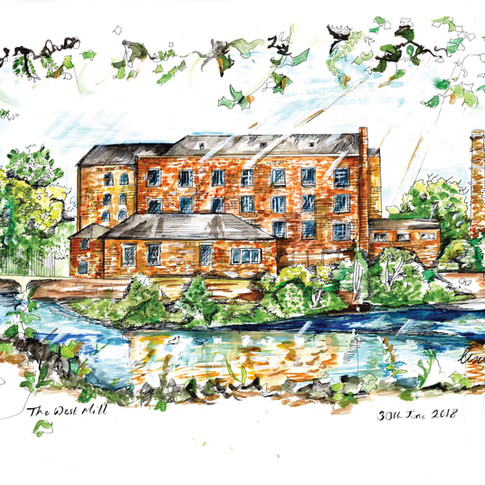The West Mill Derby Illustration