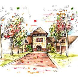 Wedding Venue Illustration Gift Painting Denbies Wine Estate.jpg