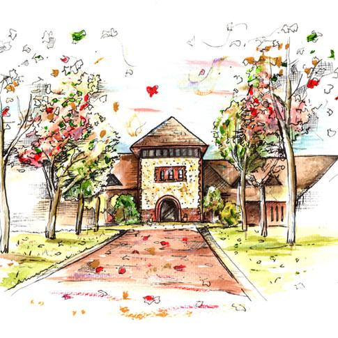 Wedding Venue Painting Denbies Wine Estate