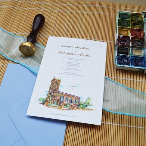 Venue Illustration Wedding Stationery Im