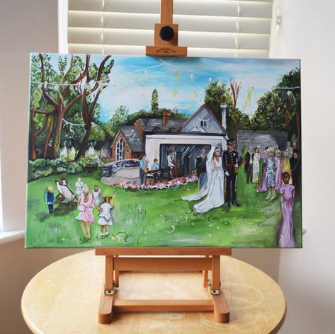 Garden Wedding Painting