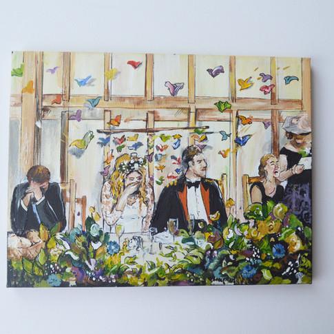 Wedding Breakfast Painting