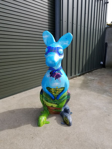 Wallaby Sculpture Mural Isle of Man