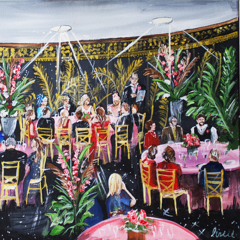 Wedding Breakfast Painting on Canvas