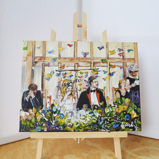 First Breakfast Wedding Painting on Canvas