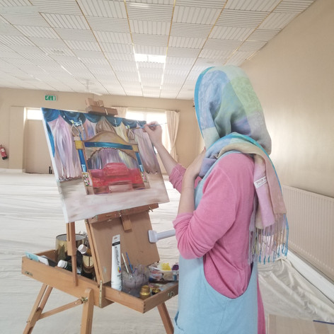 Live Event Painting Sikh Wedding Gurdwara
