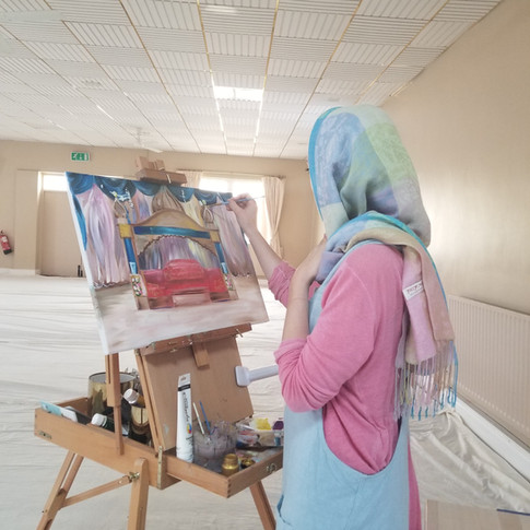 Live Event Painting Sikh Wedding Gurdwara