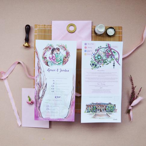 G&J Wedding  Z Fold Stationery Image 6.j