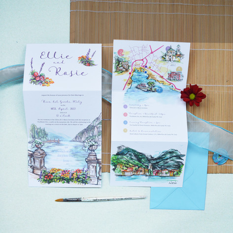 Italy Wedding  Z Fold Stationery Image 8