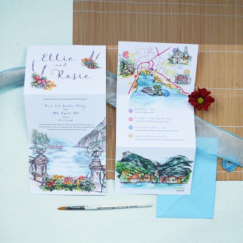 Italy Wedding  Z Fold Stationery Image 8